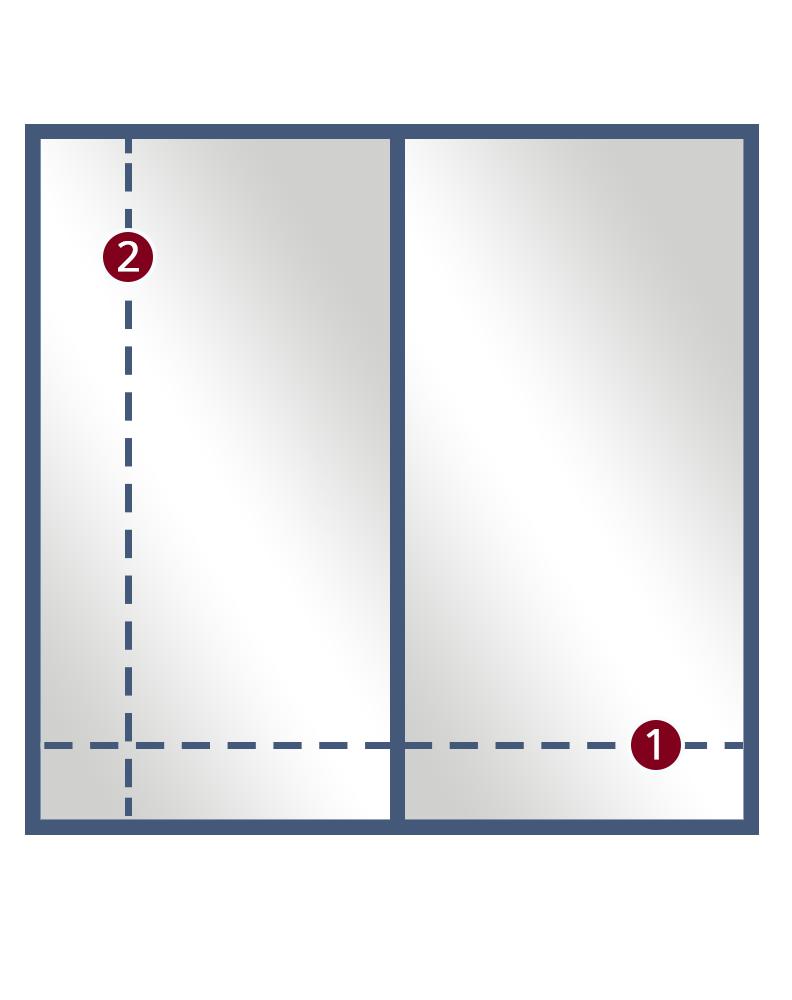 2 Inline Door 1Panel framed