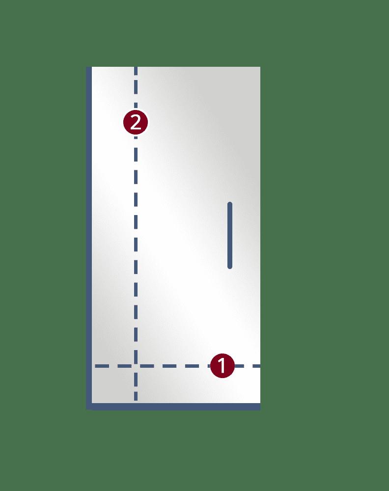 1 Single Door semi frameless