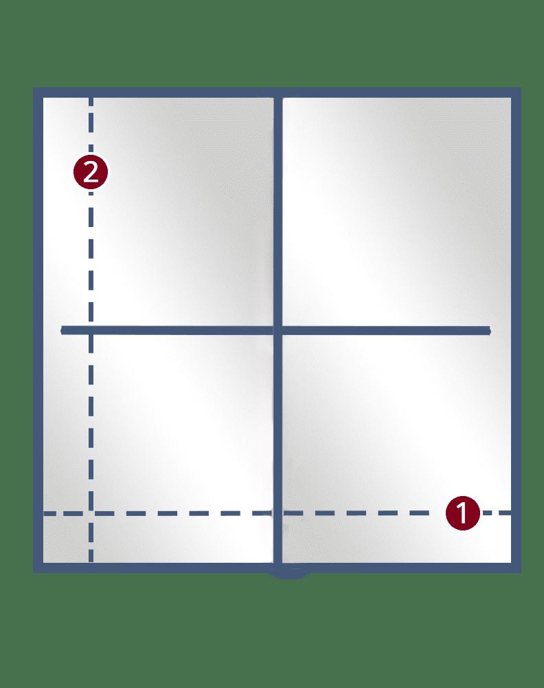 4 Sliding Doors framed