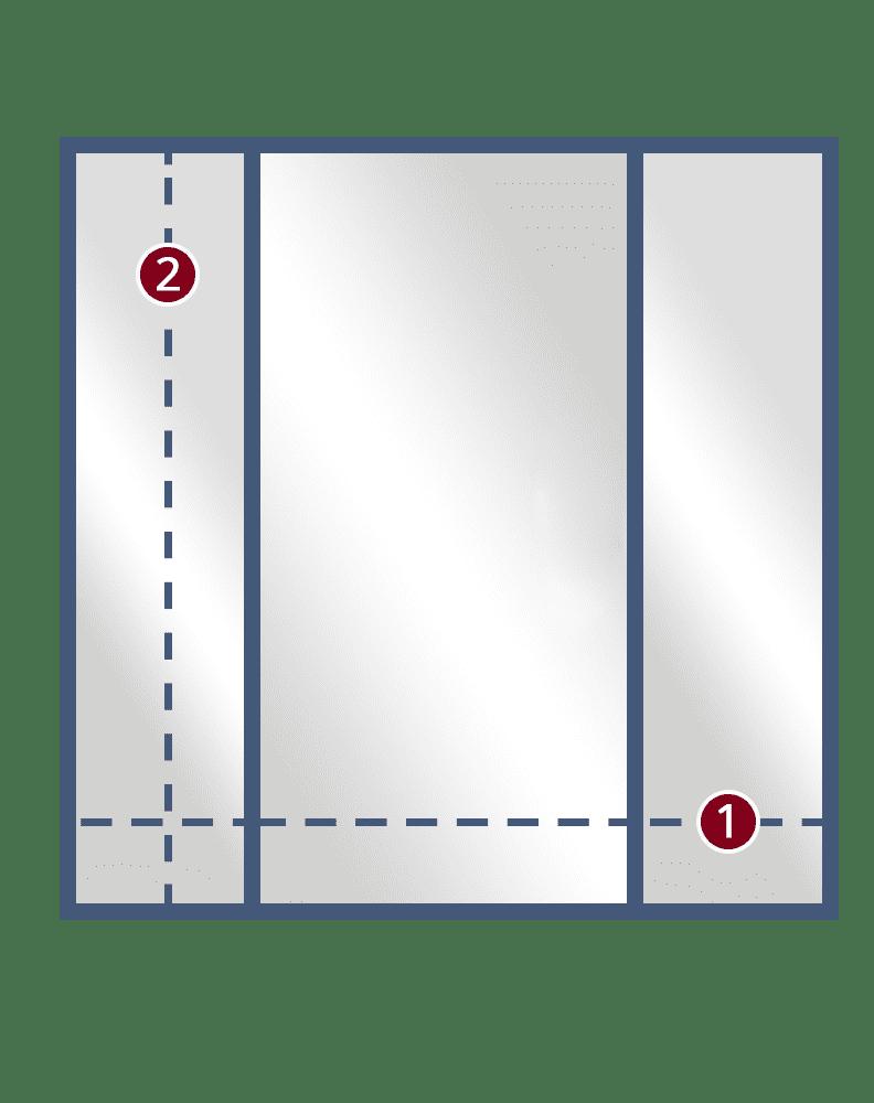 3 Inline Door 2Panels framed