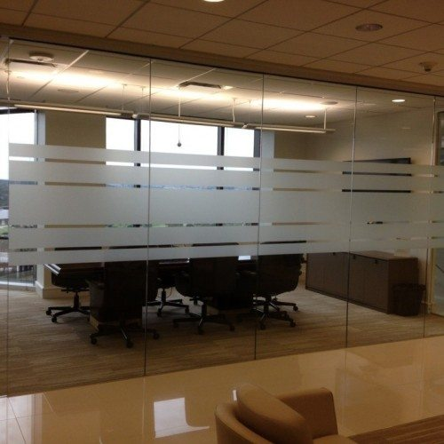 Glass Wall Conference Room with Frosted Horizon | Glass Wall Systems Gallery | Interior Glass Products | Anchor-Ventana Glass