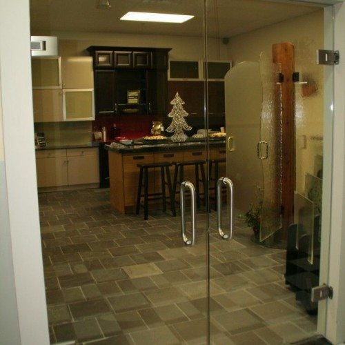 Dorma Tensor Hinged Double Doors in Design Studio | Entrances Gallery | Commercial Products | Anchor-Ventana Glass