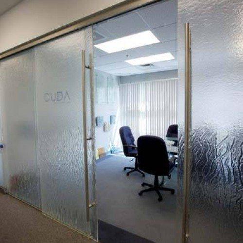 Sliding Interior Door | Entrances Gallery | Commercial Products | Anchor-Ventana Glass