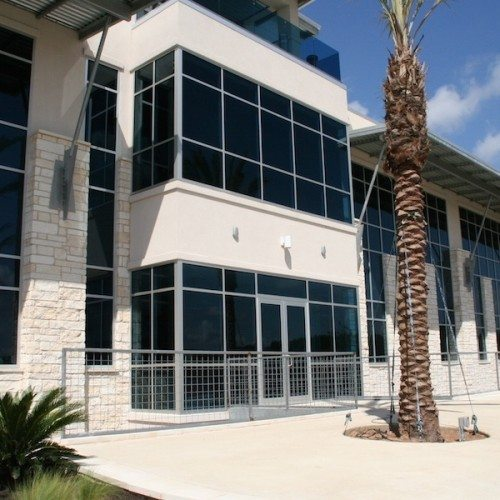 Storefront Entrance and Curtain Wall on Building B | Entrances Gallery | Commercial Products | Anchor-Ventana Glass