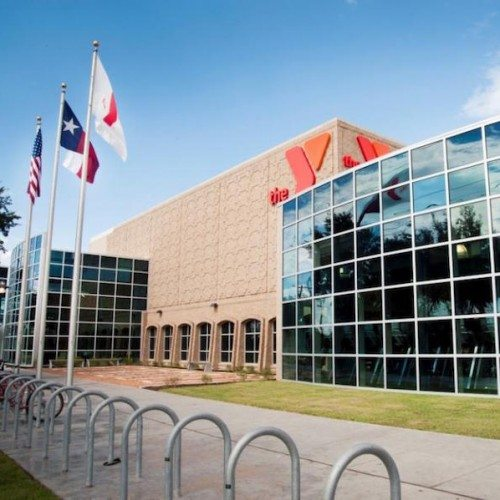 Exterior View of Curtain Wall System with Various Colored Solarban Glass | Curtain Walls | Multi-Story Buildings | Commercial Products Gallery | Anchor-Ventana Glass