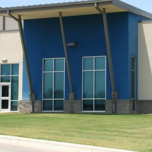Exterior Side Angle View of Commercial Storefront and Doors | Commercial Storefronts | Commercial Products | Anchor-Ventana Glass