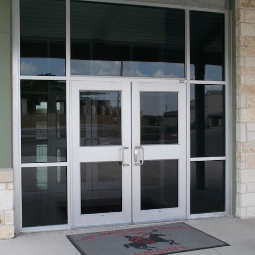 Exterior View of Storefront & Commercial Doors | Commercial Storefronts | Commercial Products | Anchor-Ventana Glass
