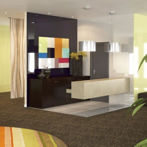 Hotel Lobby Back Painted Glass Mural | Other Commercial Glass | Commercial Products | Anchor-Ventana Glass
