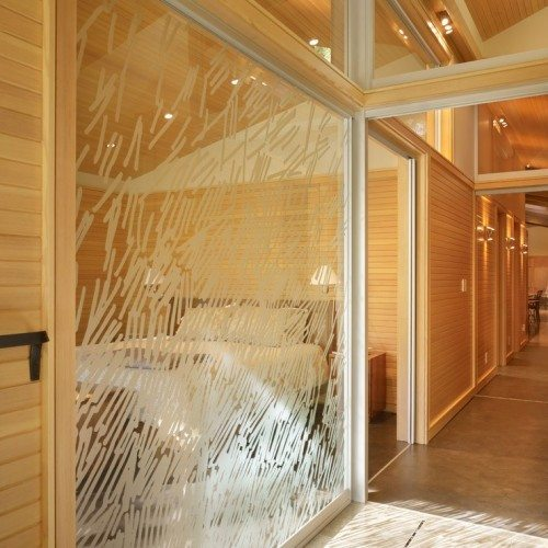Custom Etched Glass Wall System   Glass Wall Systems Gallery   Residential Products   Anchor-Ventana Glass