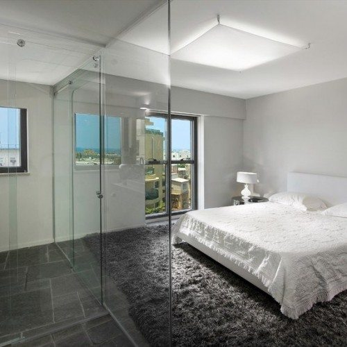 Frameless Glass Wall System Bathroom Enclosure | Glass Wall Systems Gallery | Residential Products | Anchor-Ventana Glass