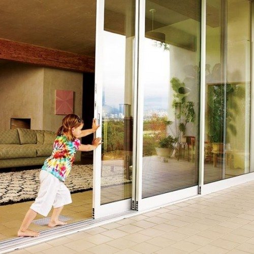 Dorma Doors at Living Room & Back Patio | Glass Wall Systems Gallery | Residential Products | Anchor-Ventana Glass