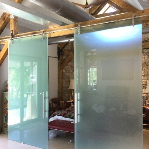 Dorma Sliding Barn Doors | Glass Wall Systems Gallery | Residential Products | Anchor-Ventana Glass