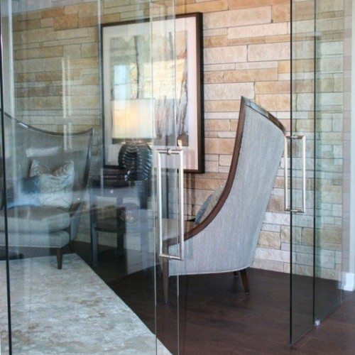 Frameless Glass Doors for Home Office | Glass Wall Systems Gallery | Residential Products | Anchor-Ventana Glass