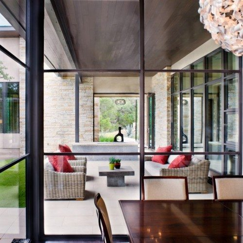 Clear Glass Installed in Steel Window Frames | Glass Wall Systems Gallery | Residential Products | Anchor-Ventana Glass
