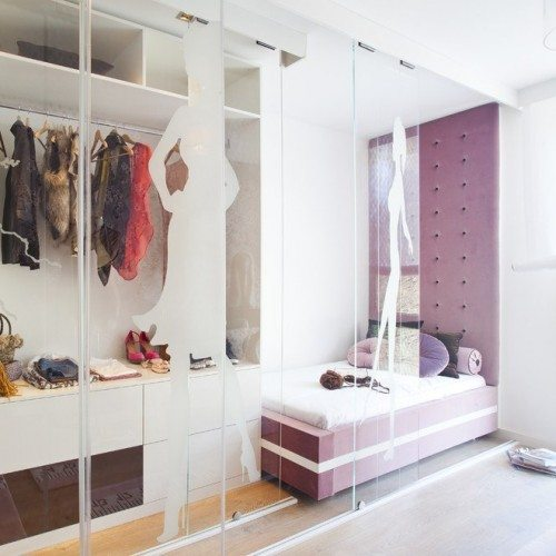 Glass Wall & Doors with Custom Tint in Bedroom & Closet | Glass Wall Systems Gallery | Residential Products | Anchor-Ventana Glass