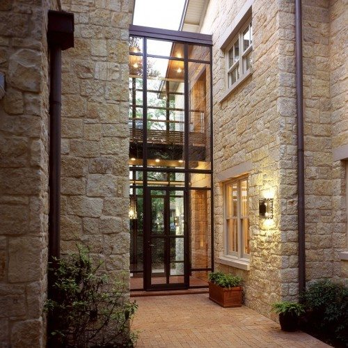 Clear Glass Installed in Steel Window and Door Frames | Glass Wall Systems Gallery | Residential Products | Anchor-Ventana Glass