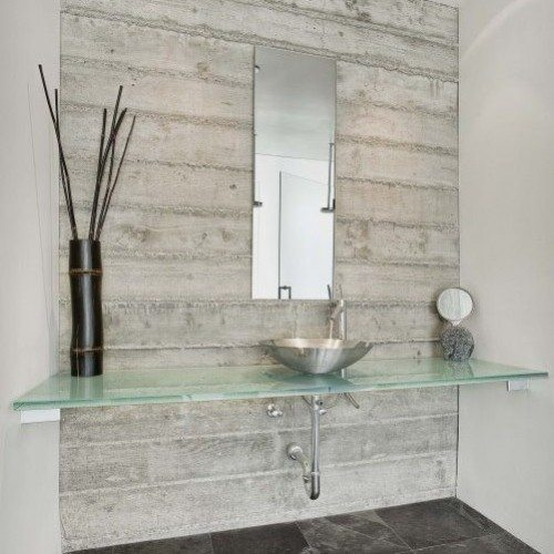 Glass Countertop & Mirror in Bathroom | Glass Countertops / Table Tops Gallery | Residential Products | Anchor-Ventana Glass