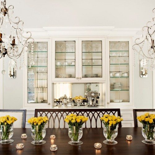 Cabinet Glass & Glass Shelves in Dining Room | Cabinet Glass & Shelves Gallery | Residential Products | Anchor-Ventana Glass