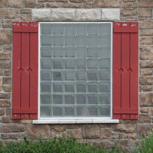 Exterior View of Crossrib Glass Block Window | Other Residential Glass | Residential Glass Gallery | Anchor-Ventana Glass