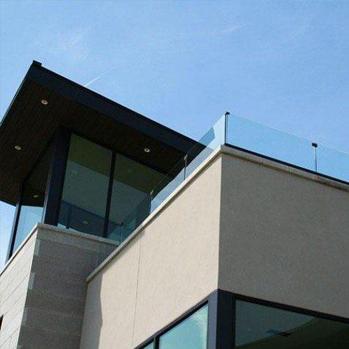 Exterior Clear Glass Handrail / Guardrail System | Glass Handrail Systems | Residential Gallery | Anchor-Ventana Glass