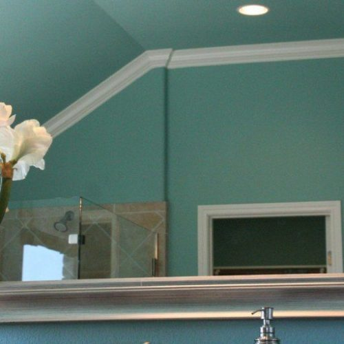 Framed Mirror in Bathroom | Mirrors Gallery | Anchor-Ventana Glass