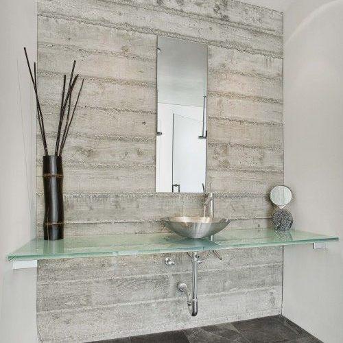 Glass Countertop & Frameless Mirror in Bathroom | Mirrors Gallery | Anchor-Ventana Glass