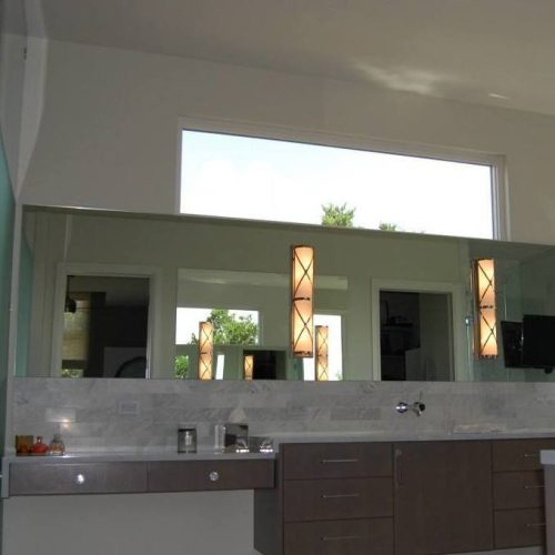 Frameless Mirror in Bathroom | Mirrors Gallery | Anchor-Ventana Glass