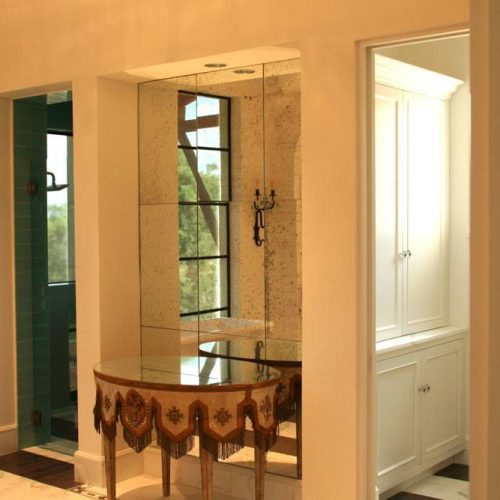 Antique Mirror Wall in Hallway | Mirrors Gallery | Anchor-Ventana Glass