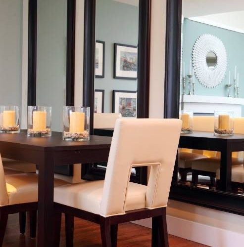 Framed Mirrors in Dining Room | Mirrors Gallery | Anchor-Ventana Glass