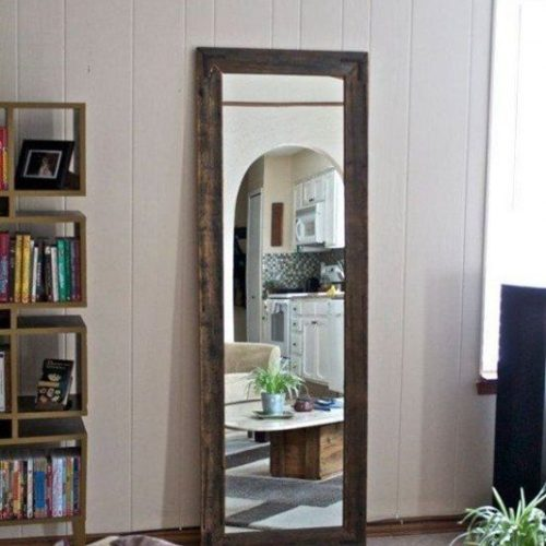 Custom Framed Mirror with Rustic Wood Frame | Mirrors Gallery | Anchor-Ventana Glass