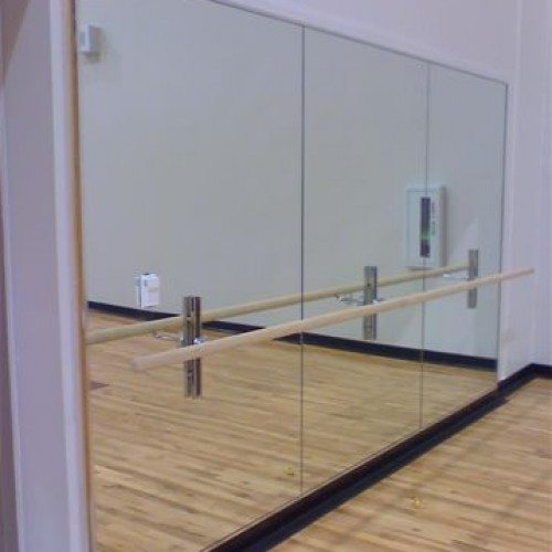 Frameless Mirror Wall in Ballet Studio | Mirrors Gallery | Anchor-Ventana Glass
