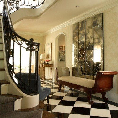 Antique Mirror Wall in Home Entry Way | Mirrors Gallery | Anchor-Ventana Glass