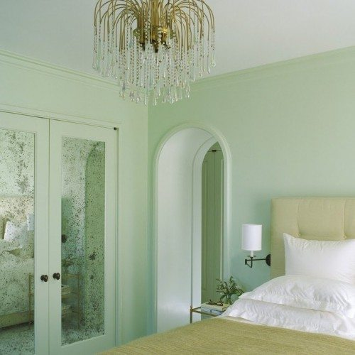 French Antique Mirror Set in Closet Doors in Bedroom | Mirrors Gallery | Anchor-Ventana Glass
