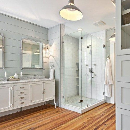 Frameless Corner Shower, Clear Cabinet Glass and Framed Mirror   Mirrors Gallery   Anchor-Ventana Glass