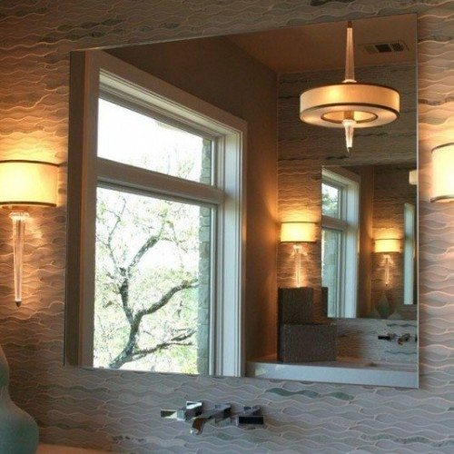 Frameless Mirror in Bathroom | Mirrors Gallery | Anchor-Ventana Glass