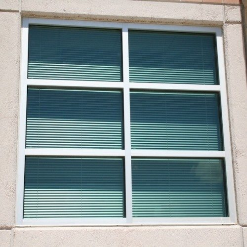 Exterior View of Close Up of Window on Building | Vandegrift High School Addition | Commercial Projects | Anchor-Ventana
