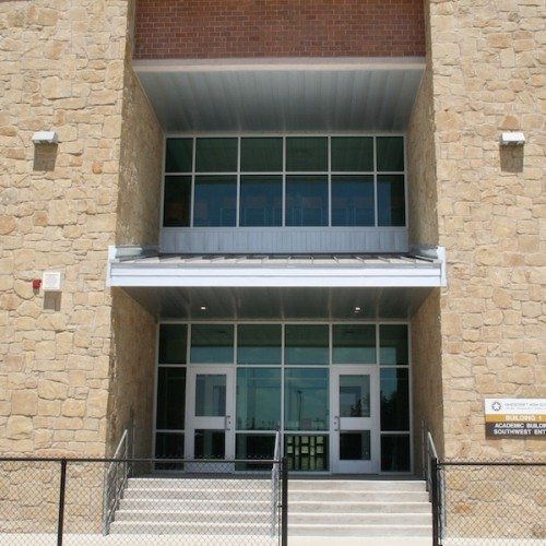 Exterior View of Storefront Entrance Doors & Windows of Building | Vandegrift High School Addition | Commercial Projects | Anchor-Ventana