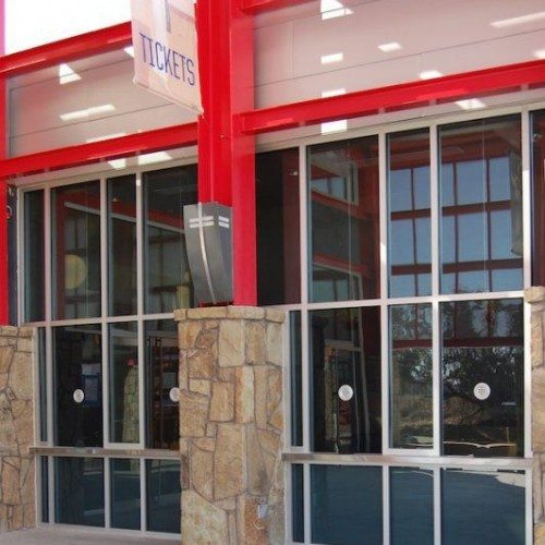 Exterior View of Building Storefront & Transaction Window | Round Rock Sports Center | Commercial Projects | Anchor-Ventana
