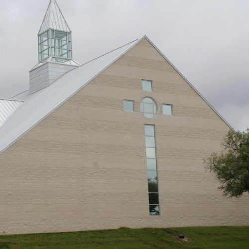 Exterior View of Custom Glass Curtain Wall System   Georgetown Church of Christ   Commercial Projects   Anchor-Ventana
