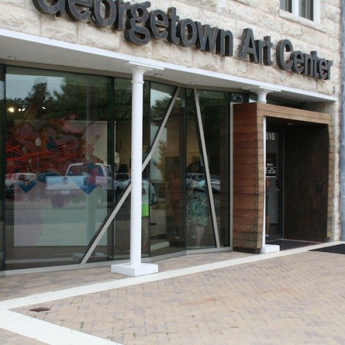 Exterior View of Storefront Entrance & Curtain Wall System | Georgetown Art Center | Commercial Projects | Anchor-Ventana