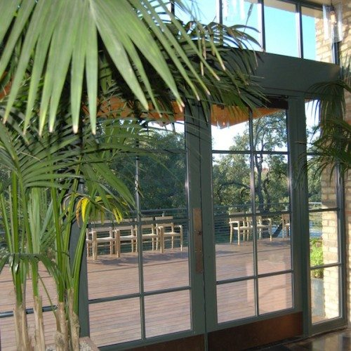 Interior View of Storefront Entrance Doors | El Monumento Restaurant | Commercial Projects | Anchor-Ventana