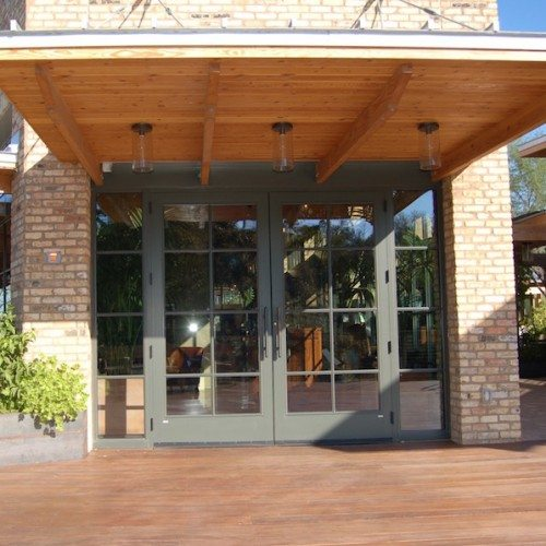 Exterior View of Storefront Entrance Doors | El Monumento Restaurant | Commercial Projects | Anchor-Ventana