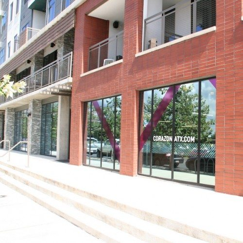 Exterior View of Lower Level Storefront   Corazon Apartments   Commercial Projects   Anchor-Ventana