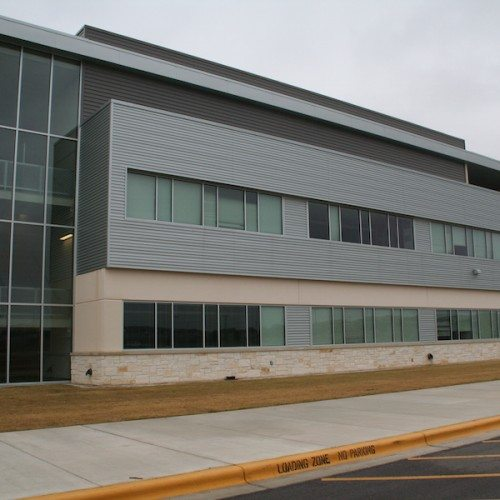 Exterior View of Building Windows | Cedar Ridge High School | Commercial Projects | Anchor-Ventana Glass