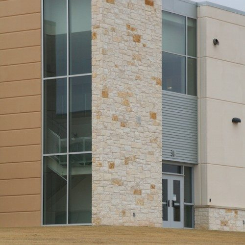 Exterior View of Curtain Wall & Storefront (Building) Entrance | Cedar Ridge High School | Commercial Projects | Anchor-Ventana Glass