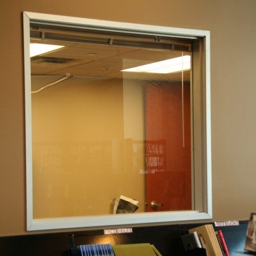 Interior View of Partition Window | Bertram Library | Commercial Projects | Anchor-Ventana