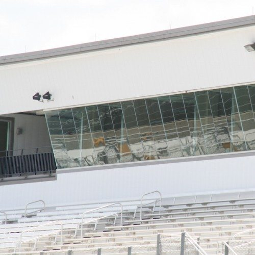 Press Box Curtain Wall | Bastrop Memorial Stadium | Commercial Projects | Anchor-Ventana Glass
