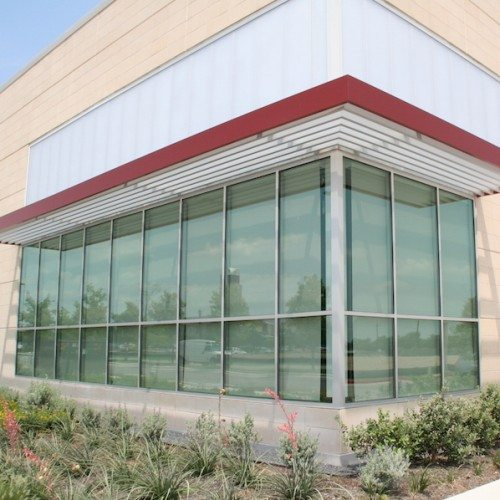 Entrance Building Glass Windows | AISD Performing Arts Center | Commercial Projects | Anchor-Ventana