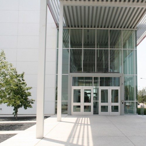 Curtain Wall & Entrance Doors | AISD Performing Arts Center | Commercial Projects | Anchor-Ventana