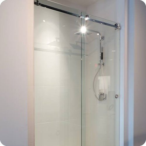 Frameless Serenity Sliding Shower Enclosure | Shower Enclosures | Products | Residential | Anchor-Ventana Glass